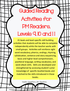 Guided Reading Activities for PM Readers, Levels 9, 10 and 11