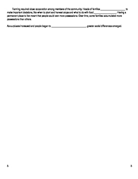 Guided Reading Activity - Chapter 2 - Section 1 Early Agriculture - Pearson Text