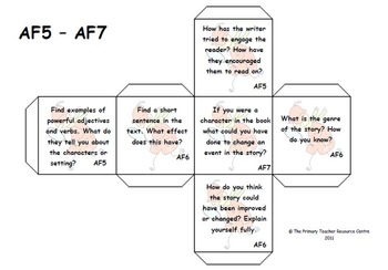 Guided Reading Activity Dice