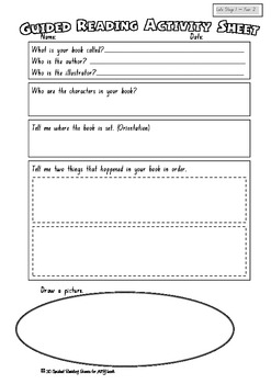 Guided Reading Activity Sheet