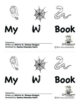 Guided Reading Alphabet Books - Letter W - Level 1