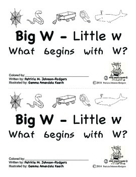 Guided Reading Alphabet Books - Letter W - Level 2