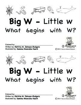 Guided Reading Alphabet Books - Letter W - Level 2