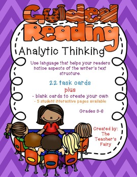 Guided Reading: Analytic Thinking Task Cards Grades 3-6