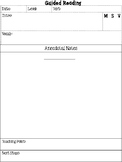 Guided Reading Anecdotal Note Page Bundle* MSV