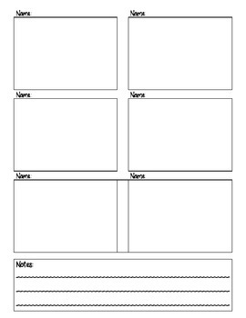 Guided Reading Anecdotal Note-Taking Sheets