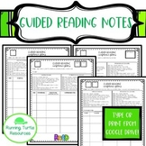 Guided Reading Anecdotal Notes- 3rd Grade (Editable from Google Drive)