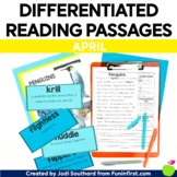 1st Grade Reading Passages for Guided Reading - April