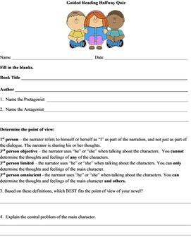 GUIDED READING Assessment Pack for Any Novel Free