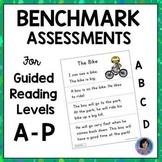 Kindergarten, 1st & 2nd Grade Guided Reading Level Benchma
