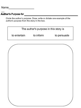 Guided Reading: Author's Purpose