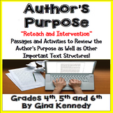 Author's Purpose Reading Passages, Extra Practice, Reading Skill Intervention!