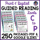 Guided Reading Bundle: Reading Comprehension Passages & Questions Levels C - L