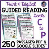 Reading Comprehension Passages and Questions for Guided Reading Levels C - P