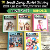 Guided Reading BUNDLE LEVELS A-E: Lesson Plans & Activities for Small Group