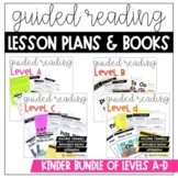 Guided Reading Kindergarten BUNDLE  Distance Learning: Levels A-D