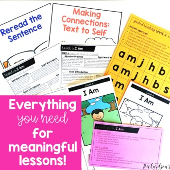 Paper & Digital Guided Reading Kindergarten BUNDLE|Distance Learning:Levels A-D