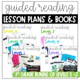First Grade Guided Reading Lesson Plan BUNDLE | Levels E-J