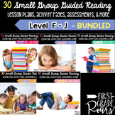 Guided Reading BUNDLE Levels F-J Lesson Plans and Activities for Small Group