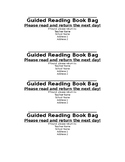 Guided Reading Bag Labels