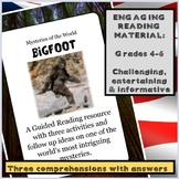 Guided Reading: Bigfoot - Three activities plus follow up
