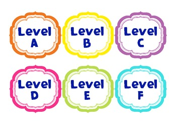 Guided Reading Bin Labels