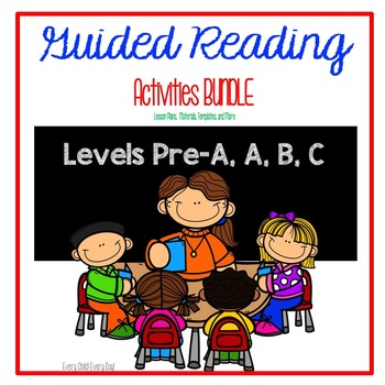 Guided Reading Binder BUNDLE - RTI Activities - Levels Pre-A, A, B, & C