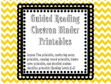 Guided Reading Binder Chevron Printables