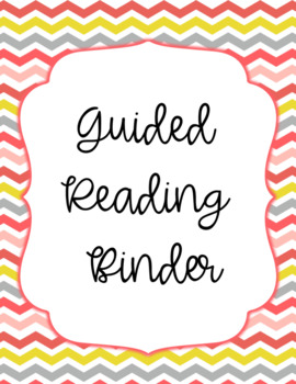 Guided Reading Binder Cover FREEBIE!