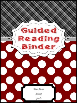 Guided Reading Binder Cover Red Black