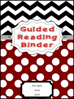 Guided reading binder cover red black by peanut butter polka dots for Reading binder cover