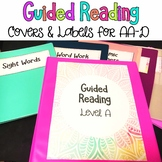 Free Guided Reading Binder Covers and Folder Labels for Le