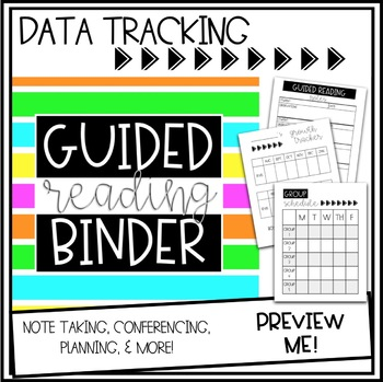 Guided Reading Binder - Data Tracking