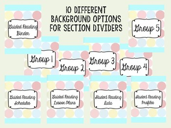 Guided Reading Binder - EDITABLE