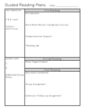 Guided Reading Binder Resources Elementary K-5 *Free Updates for Life*