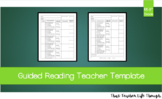 Guided Reading Binder Template for Teachers