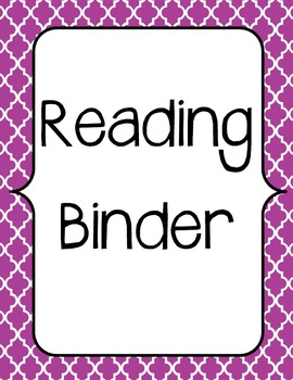 Guided Reading Binder and Planning Template