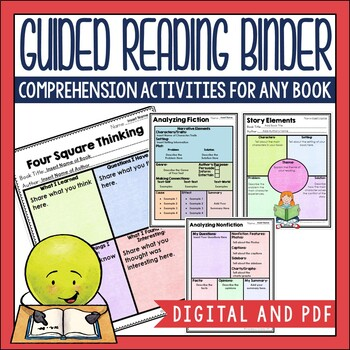 Want print and go options for your guided reading lessons, but also a digital option for literacy workstaions and modeling? Get both in this guided reading binder. Check out the preview on Teachers Pay Teachers for a view of both options.
