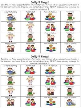 "Daily-5 ""Bingo Boards"""