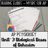 Guided Reading: Biological Bases Unit for Myers' Psychology for AP
