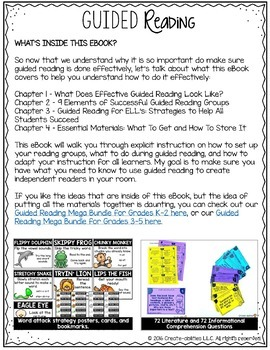 Guided Reading Blueprint eBook: 9 Steps to Creating Independent Readers