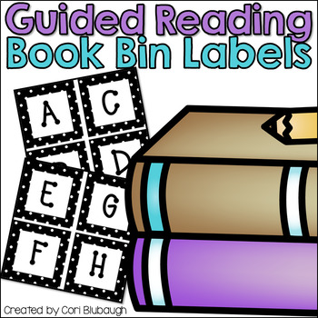 Guided Reading Book Bin Labels *Editable*