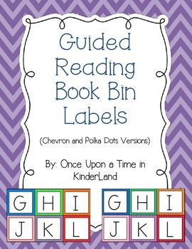 Guided Reading Book Bin Labels