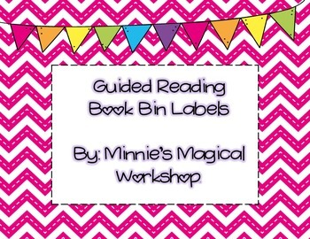 Guided Reading Book Bin Labels A-L