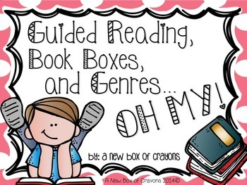 Guided Reading, Book Boxes and Genres…OH MY! *EDITABLE*  Polka Dots
