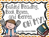 Guided Reading, Book Boxes and Genres…OH MY! *EDITABLE* ~Chevron~