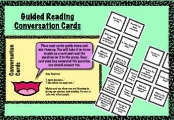 Guided Reading Book Conversation Cards