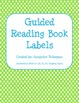 Guided Reading Book Labels