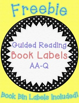 Guided Reading Book Labels (Freebie!)