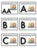 Guided Reading Book Level Labels for Book Baskets